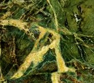 Detallo técnico: Verde Borgogna, cuarcita natural pulida brasileña