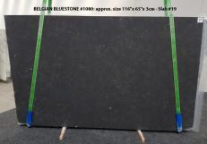 Suministro planchas mates 3 cm en caliza natural BELGIAN BLUE LIMESTONE 1080. Detalle imagen fotografías