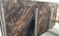 Suministro planchas pulidas 2 cm en caliza natural BRONZO VENATO 1529M. Detalle imagen fotografías