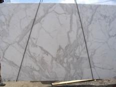 Suministro planchas pulidas 3 cm en mármol natural CALACATTA ORO EXTRA E-8001. Detalle imagen fotografías