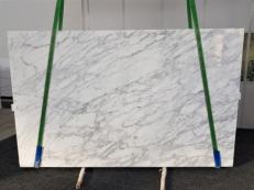 Suministro planchas pulidas 3 cm en mármol natural CALACATTA VAGLI VENA FINA GL 1128. Detalle imagen fotografías