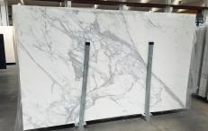 Suministro planchas pulidas 0.8 cm en mármol natural CALACATTA 1426M. Detalle imagen fotografías