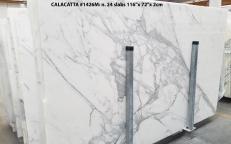 Suministro planchas pulidas 2 cm en mármol natural CALACATTA 1426M. Detalle imagen fotografías