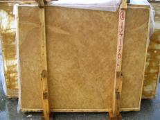 Suministro planchas pulidas 2 cm en mármol natural GIALLO NOCE SRC25131. Detalle imagen fotografías