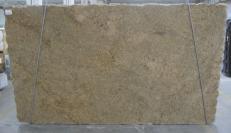 Suministro planchas pulidas 3 cm en granito natural GIALLO VENEZIANO C-16777. Detalle imagen fotografías