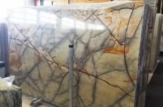 Suministro planchas pulidas 2 cm en cuarcita natural ISOLA BLUE AA T0264. Detalle imagen fotografías