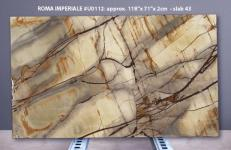 Suministro planchas pulidas 2 cm en cuarcita natural ISOLA BLUE U0112. Detalle imagen fotografías