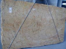 Suministro planchas pulidas 2 cm en granito natural MADURAI GOLD X. Detalle imagen fotografías