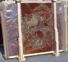 Suministro planchas pulidas 2 cm en ónix natural ONYX MULTICOLOR E_15102. Detalle imagen fotografías