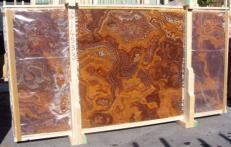 Suministro planchas pulidas 2 cm en ónix natural ONYX RED E-14533B. Detalle imagen fotografías