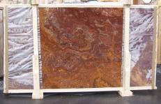 Suministro planchas pulidas 2 cm en ónix natural ONYX RED E-OR14640. Detalle imagen fotografías