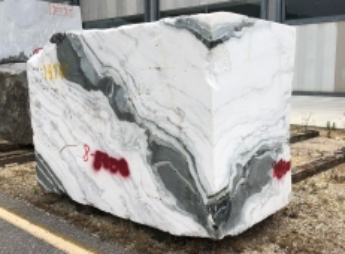 Suministro bloques ásperos 84 cm en mármol natural PANDA 1517M. Detalle imagen fotografías