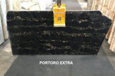 Suministro planchas pulidas 2 cm en mármol natural PORTORO EXTRA AA D0023. Detalle imagen fotografías