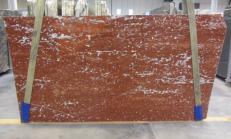 Suministro planchas pulidas 3 cm en mármol natural ROSSO FRANCIA 1007M. Detalle imagen fotografías