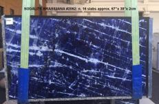 Suministro planchas pulidas 2 cm en mármol natural SODALITE AA 2062. Detalle imagen fotografías