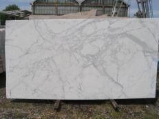 Suministro planchas pulidas 2 cm en mármol natural STATUARIO VENATO E-8074. Detalle imagen fotografías