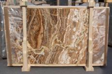 Suministro planchas pulidas 2 cm en travertino natural TRAVERTINO ONICIATO E_15188. Detalle imagen fotografías