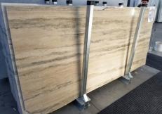 Suministro planchas pulidas 2 cm en travertino natural TRAVERTINO SILVER ROMANO GL 898. Detalle imagen fotografías
