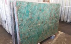 Suministro planchas pulidas 0.8 cm en piedra semi preciosa natural AMAZZONITE Z0206. Detalle imagen fotografías