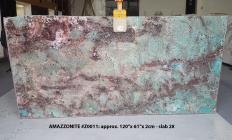 Suministro planchas pulidas 0.8 cm en piedra semi preciosa natural AMAZZONITE Z0011. Detalle imagen fotografías