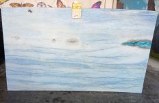 Suministro planchas pulidas 2 cm en mármol natural AZUL MAKAUBA Z0191. Detalle imagen fotografías
