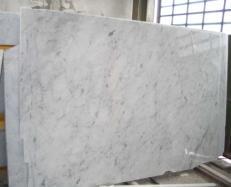 Suministro planchas pulidas 0.8 cm en mármol natural BIANCO CARRARA CD E-BCCD1032. Detalle imagen fotografías