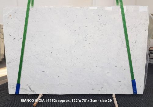 Suministro planchas pulidas 3 cm en mármol natural BIANCO GIOIA EXTRA 1152. Detalle imagen fotografías