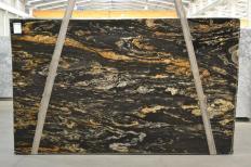 Suministro planchas pulidas 3 cm en granito natural BLACK VULCON 2480. Detalle imagen fotografías