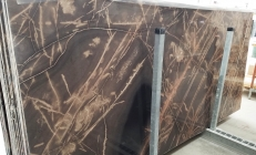 Suministro planchas pulidas 0.8 cm en caliza natural BRONZO VENATO 1529M. Detalle imagen fotografías