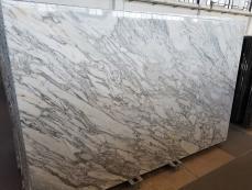 Suministro planchas pulidas 2 cm en mármol natural CALACATTA ARNI Z0175. Detalle imagen fotografías