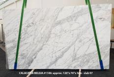 Suministro planchas pulidas 3 cm en mármol natural CALACATTA BELGIA 1146. Detalle imagen fotografías