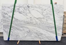 Suministro planchas pulidas 3 cm en mármol natural CALACATTA CARRARA 1421. Detalle imagen fotografías