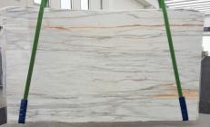 Suministro planchas pulidas 2 cm en mármol natural CALACATTA CREMO V 1120. Detalle imagen fotografías