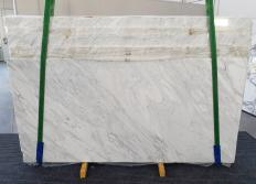 Suministro planchas pulidas 0.8 cm en mármol natural CALACATTA CREMO 1263. Detalle imagen fotografías