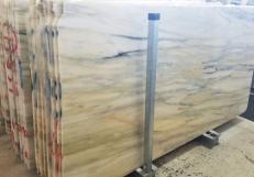 Suministro planchas pulidas 2 cm en mármol natural CALACATTA CREMO AA T0191. Detalle imagen fotografías