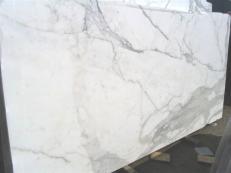 Suministro planchas pulidas 2 cm en mármol natural CALACATTA ORO EXTRA E-25104. Detalle imagen fotografías