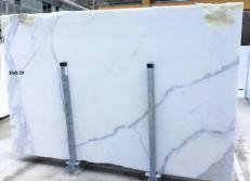 Suministro planchas pulidas 0.8 cm en mármol natural CALACATTA ORO EXTRA GL D190223. Detalle imagen fotografías