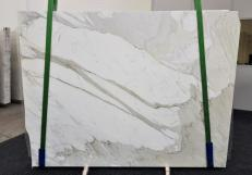 Suministro planchas pulidas 0.8 cm en mármol natural CALACATTA ORO EXTRA GL 1090. Detalle imagen fotografías