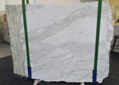 Suministro planchas pulidas 0.8 cm en mármol natural CALACATTA ORO 1286. Detalle imagen fotografías