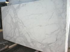 Suministro planchas pulidas 1.2 cm en mármol natural CALACATTA ORO EM_0472. Detalle imagen fotografías