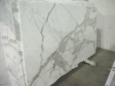 Suministro planchas pulidas 2 cm en mármol natural CALACATTA ORO EDM24267. Detalle imagen fotografías