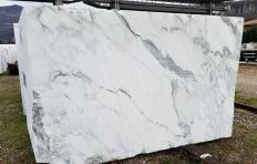 Suministro bloques a cortes con diamante 180 cm en mármol natural calacatta vagli Z0391. Detalle imagen fotografías