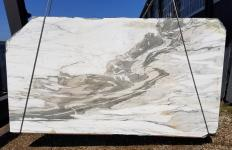 Suministro planchas al corte 2 cm en mármol natural CALACATTA VAGLI U0434. Detalle imagen fotografías