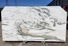 Suministro planchas pulidas 2 cm en mármol natural CALACATTA VAGLI U0434. Detalle imagen fotografías