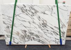 Suministro planchas pulidas 2 cm en mármol natural CALACATTA VAGLI 1396. Detalle imagen fotografías