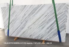 Suministro planchas pulidas 2 cm en mármol natural Calacatta Vandelli 1153. Detalle imagen fotografías