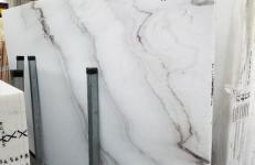 Suministro planchas pulidas 2 cm en mármol natural CALACATTA VENDOME 1402M. Detalle imagen fotografías