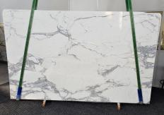 Suministro planchas pulidas 2 cm en mármol natural CALACATTA 1301. Detalle imagen fotografías