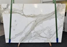 Suministro planchas pulidas 2 cm en mármol natural CALACATTA 1310. Detalle imagen fotografías
