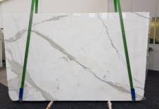 Suministro planchas pulidas 1.2 cm en mármol natural CALACATTA GL 1108. Detalle imagen fotografías